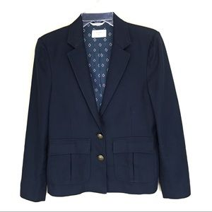 Billy Reid June Linen Blend Navy Blazer